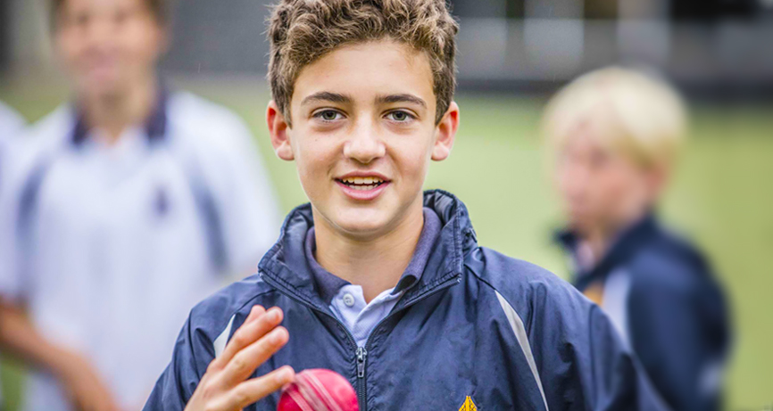 Wadhurst boy with cricket ball
