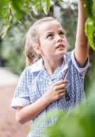 Melbourne Grammar School girl in garden