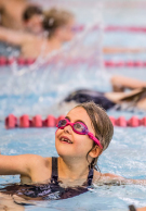 Melbourne Grammar School girl in swimming lesson