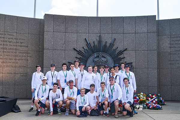 The group attended a commemoration of the Battle of Hamel  (4 July 1918) – 'Monash's Masterpiece' and laid a wreath at the memorial which sits atop the old German line, the final objective of the Australians' 93-minute attack.